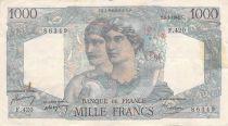 France 1000 Francs Minerva and Hercules - 05-05-1948 Serial F.420 - F