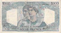 France 1000 Francs Minerva and Hercules - 06-12-1945 Serial D.152 - F to VF
