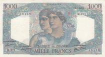 France 1000 Francs Minerva and Hercules - 09-01-1947 - Serial M.371 - XF