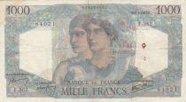 France 1000 Francs Minerva and Hercules - 09-01-1947 - VF