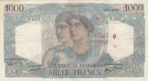 France 1000 Francs Minerva and Hercules - 09-01-1947 - VF