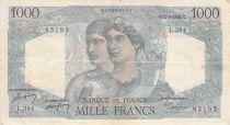 France 1000 Francs Minerva and Hercules - 11-03-1948 Serial L.384 - VF