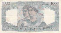 France 1000 Francs Minerva and Hercules - 12-09-1946 Serial A.326 - F