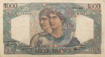 France 1000 Francs Minerva and Hercules - 12-09-1946 Serial H.333 - VF