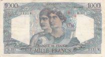 France 1000 Francs Minerva and Hercules - 12-09-1946 Serial M.331 - F