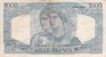 France 1000 Francs Minerva and Hercules - 12-09-1946 Serial U.324 - F to VF
