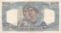 France 1000 Francs Minerva and Hercules - 13-08-1945 Serial Z.108 - VF