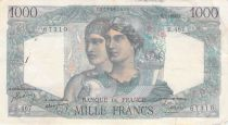 France 1000 Francs Minerva and Hercules - 15-07-1948 Serial B.467 - F to VF