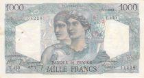 France 1000 Francs Minerva and Hercules - 15-07-1948 Serial T.450 - VF+