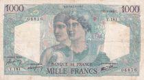 France 1000 Francs Minerva and Hercules - 17-01-1946 - Serial T.181 - F