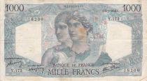 France 1000 Francs Minerva and Hercules - 17-01-1946 Serial Y.173 - F+