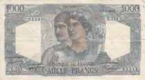 France 1000 Francs Minerva and Hercules - 17-02-1949 Serial U.533 - F