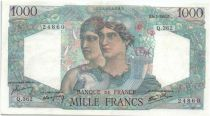 France 1000 Francs Minerva and Hercules - 1947