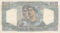 France 1000 Francs Minerva and Hercules - 20-04-1949 Serial R.643 - VF