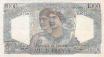 France 1000 Francs Minerva and Hercules - 20-04-1949 Serial U.651 - VF