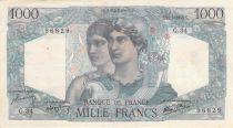 France 1000 Francs Minerva and Hercules - 21-05-1945 Serial G.34 - VF