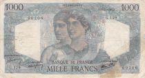 France 1000 Francs Minerva and Hercules - 22-11-1945 Serial G.129 - G+
