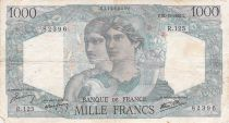 France 1000 Francs Minerva and Hercules - 22-11-1945 Serial R.125 - F+