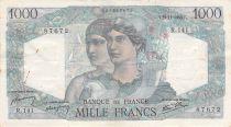France 1000 Francs Minerva and Hercules - 22-11-1945 Serial R.141 - VF