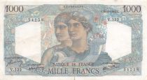 France 1000 Francs Minerva and Hercules - 22-11-1945 Serial V.133 - F to VF