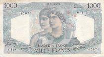 France 1000 Francs Minerva and Hercules - 23-08-1945 Serial V.116 - F to VF