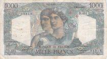 France 1000 Francs Minerva and Hercules - 23-08-1948 Serial D.491 - VG to F