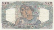 France 1000 Francs Minerva and Hercules - 26-04-1950 - Serial U.658