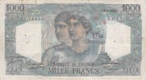 France 1000 Francs Minerva and Hercules - 26-08-1948 Serial F.472 - F to VF
