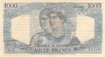 France 1000 Francs Minerva and Hercules - 28-06-1945 Serial Q.72 -VF to  XF