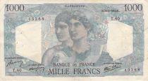 France 1000 Francs Minerva and Hercules - 28-06-1945 Serial T.60 - VF