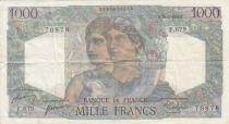 France 1000 Francs Minerva and Hercules - 29-06-1950