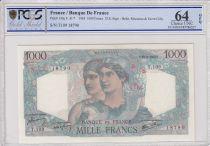 France 1000 Francs Minerve - 23-08-1945 - PCGS 64 OPQ