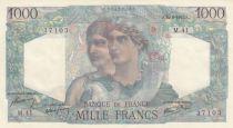 France 1000 Francs Minerve and Hercule - 14/06/1945 - aUNC -P.130