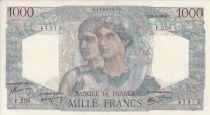 France 1000 Francs Minerve and Hercule - 25/04/1946  - Serial F.258