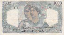France 1000 Francs Minerve et Hercule - 02-03-1950 Série K.633 - PTTB
