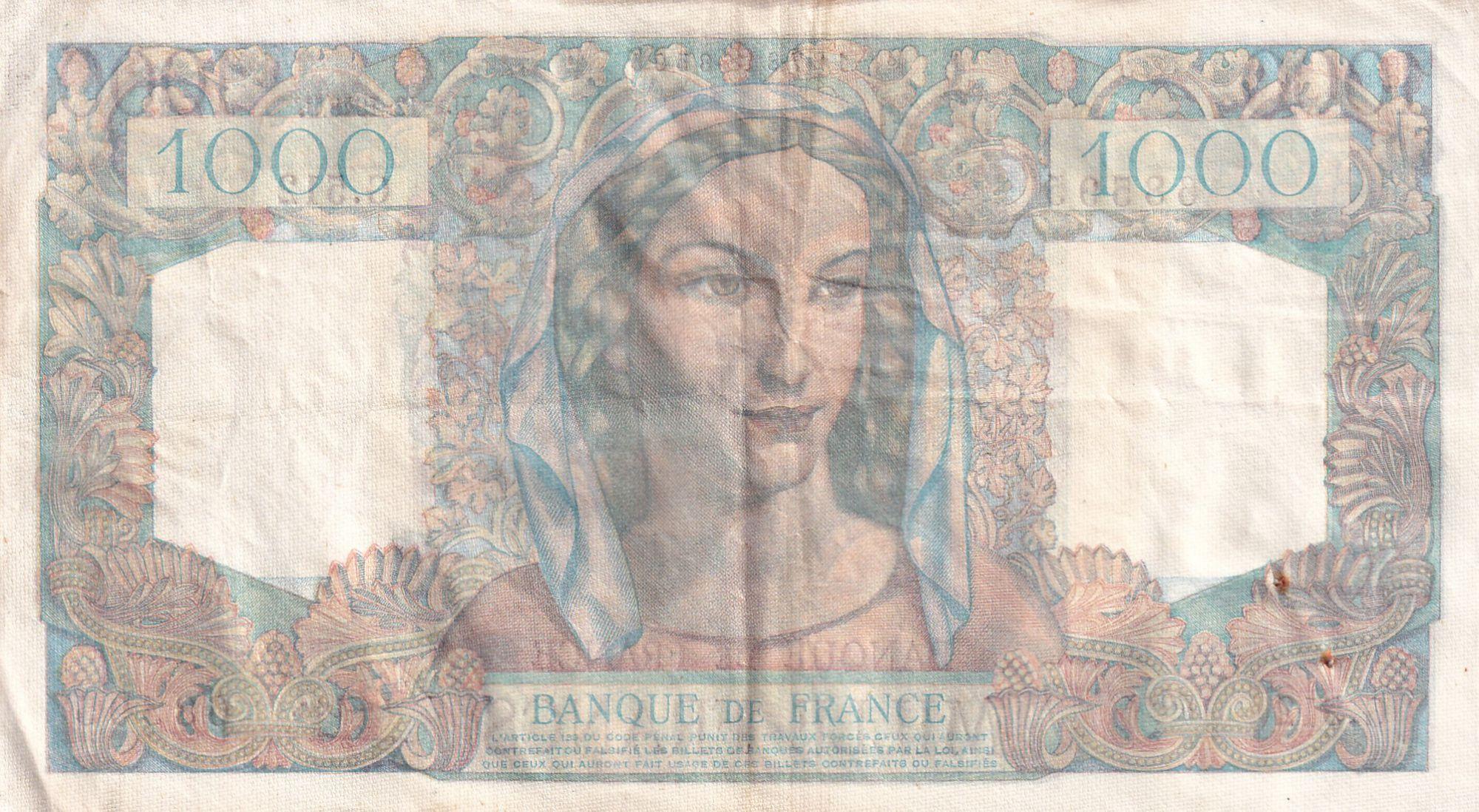 France 1000 Francs Minerve et Hercule - 02-12-1948 - Série G.512 - TTB+