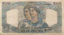France 1000 Francs Minerve et Hercule - 06-12-1945 Série A.166 - TB