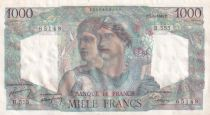 France 1000 Francs Minerve et Hercule - 07-04-1949 - Série R.555 n°65149 - SPL