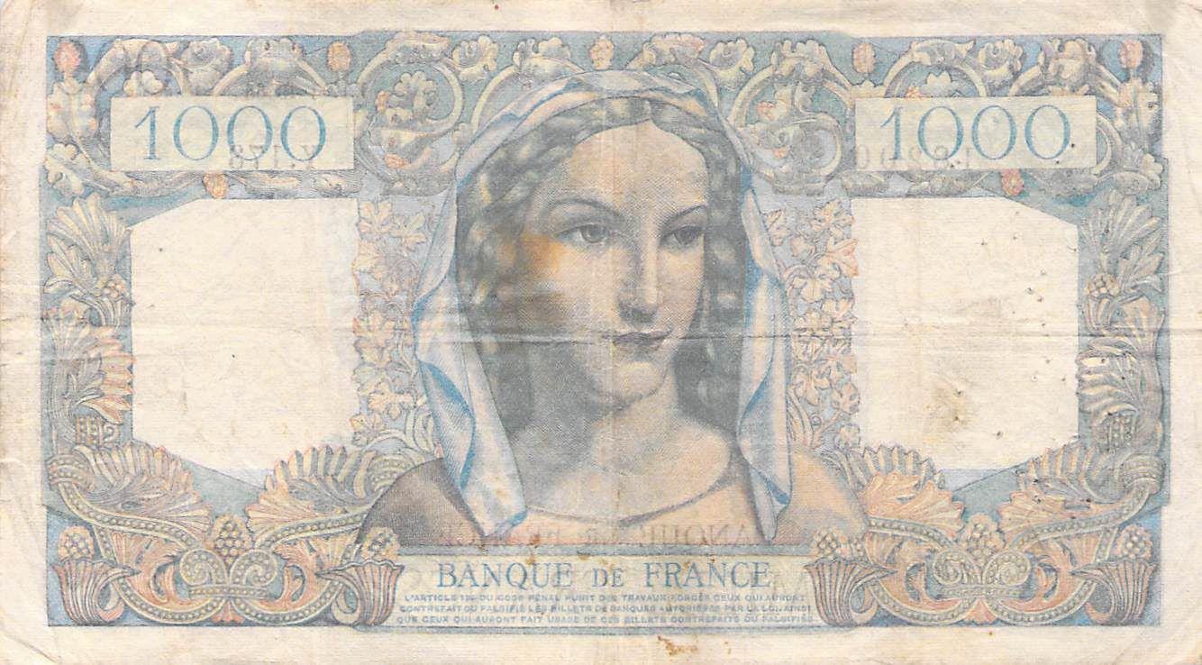 France 1000 Francs Minerve et Hercule - 17-01-1946 Série Y.173 - TB+