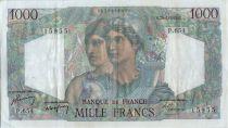 France 1000 Francs Minerve et Hercule - 20-04-1950