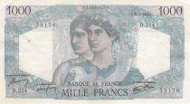 France 1000 Francs Minerve et Hercule - 21-02-1946 Série D.214 - TTB