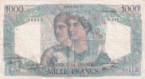 France 1000 Francs Minerve et Hercule - 22-11-1945 - Série U.144 - TTB