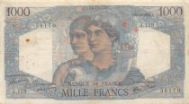 France 1000 Francs Minerve et Hercule - 22-11-1945 Série J.121 - TB