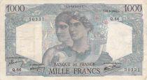 France 1000 Francs Minerve et Hercule - 28-06-1945 Série Q.66 - TB
