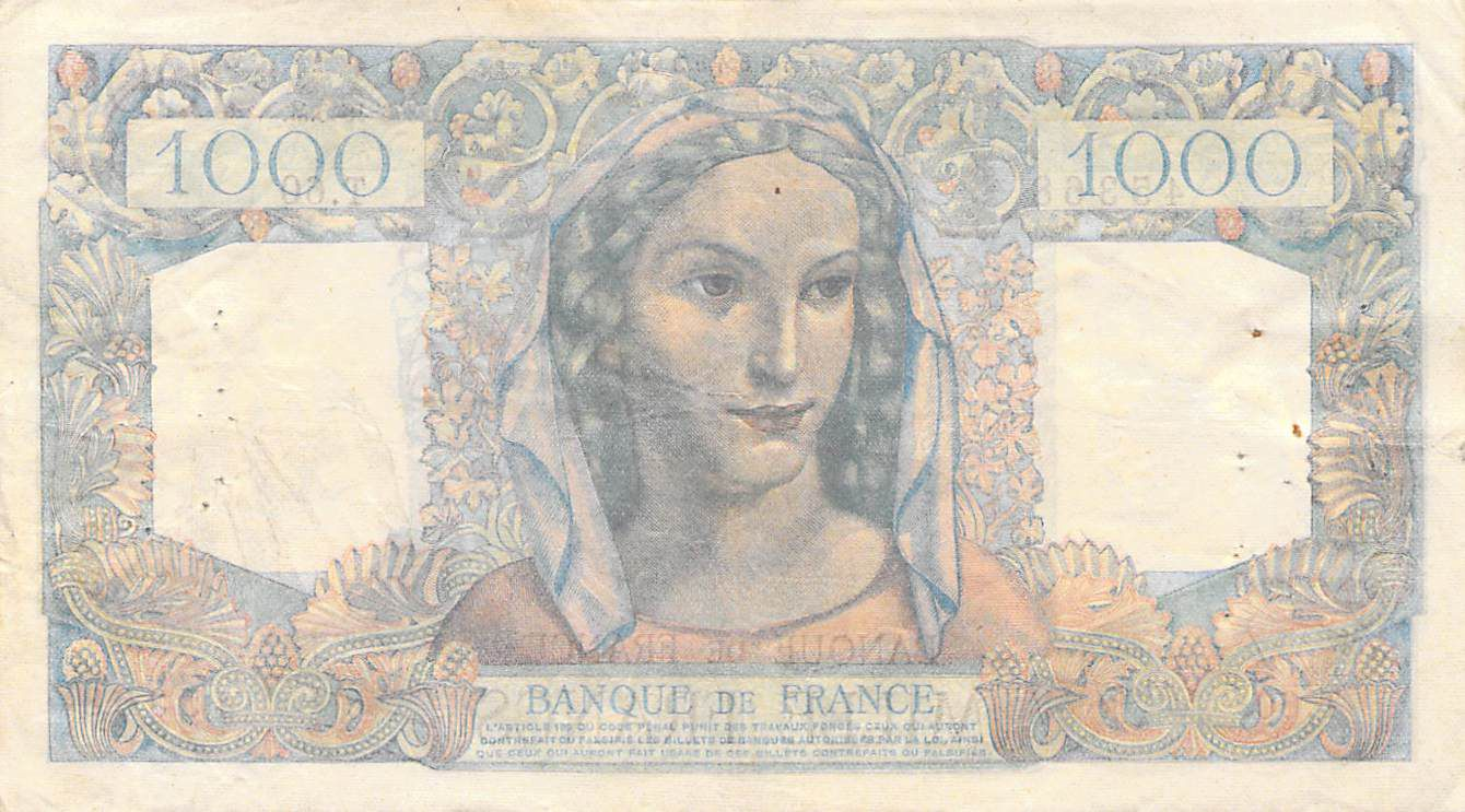France 1000 Francs Minerve et Hercule - 28-06-1945 Série T.60 - TTB