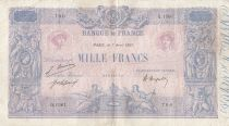 France 1000 Francs Pink and blue - 07-04-1921 - Serial Q.1561