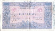 France 1000 Francs Pink and blue - 10-08-1918 Serial O.1175