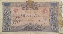 France 1000 Francs Pink and blue - 18-03-1925 Serial S.1881 - G
