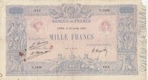 France 1000 Francs Pink and blue - 28-07-1925 Serial S.1989