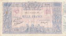 France 1000 Francs Pink and blue - 30-09-1925 Serial K.2043 - VF